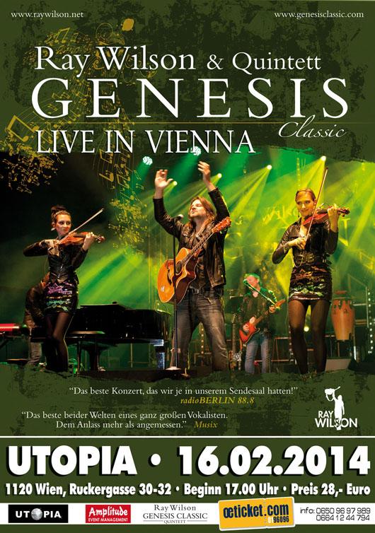 Genesis classic ray wilson quintett in vienna link to for Wohndesign pure vienna 2014