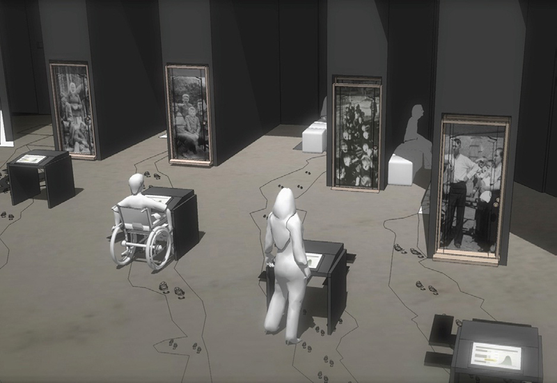 Visualisation of the permanent exhibition of the Museum of the Second World. Tempora S.A.